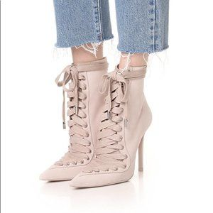 RUNWAY Zimmermann Lace Up Suede Stiletto Boots